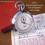 1971年 SMITHS/スミス STOP WATCH ストップウォッチ ギャランティー・BOX付