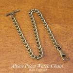 英国 懐中時計用アルバートチェーン アンティークゴールド