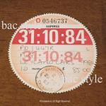 1984年 LEYLAND / レイランド TAX DISC タックスディスク(10月)