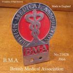 貴重!当時物 BMA 英国医師会 メンバーズ ビンテージ カーバッジ
