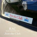 希少!当時物 RAC Join the Club. 内貼り ステッカー