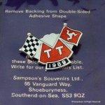 1989年 Isle of man TT レース フラッグピンバッジ