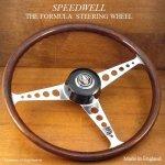 当時物 SPEEDWELL FORMULA/スピードウェル フォーミュラー ウッド ステアリング 48スプラインボス MINI BARC