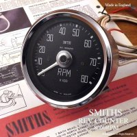 1960's SMITHS REV COUNTER レブカウンター タコメーター 角文字8000rpm