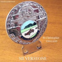 1960's SILVERSTONE ST.CHRISTOPHER/セント・クリストファー シルバーストーン カー バッジ