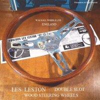 貴重!当時物 LES LESTON DOUBLE SLOT/レスレストン ダブルスロット ウッド ステアリング