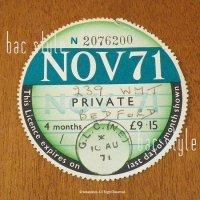 1971年 BEDFORD / ベッドフォード TAX DISC タックスディスク(NOV)