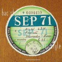 1971年 Mercedes-Benz / メルセデスベンツ TAX DISC タックスディスク(SEP)