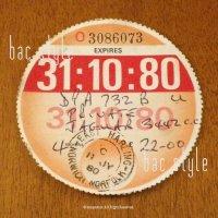 1980年 JAGUAR / ジャガー TAX DISC タックスディスク(10月)