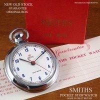 超貴重!NOS 1960's SMITHS ストップウォッチ懐中時計 ギャランティー・BOX付 デッドストック