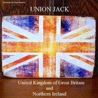 UNION JACK アンティーク ブリキ ティンプレート 看板