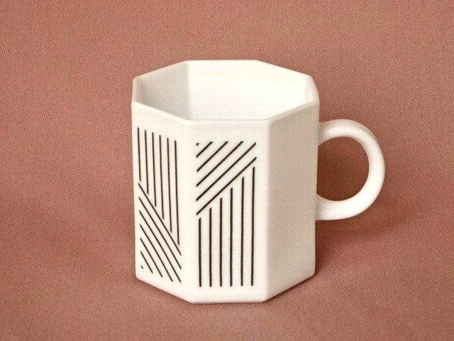 ○●八角形のミルクガラスカップ●○