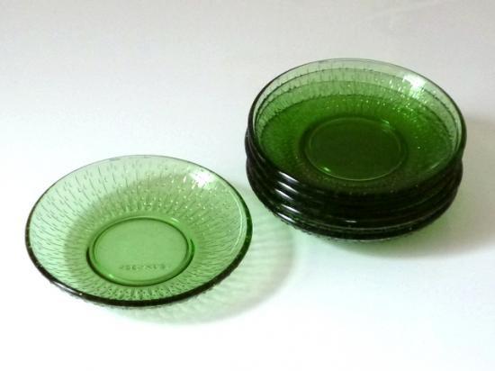 ○●DDR 緑のガラスプレート 2~6枚●○