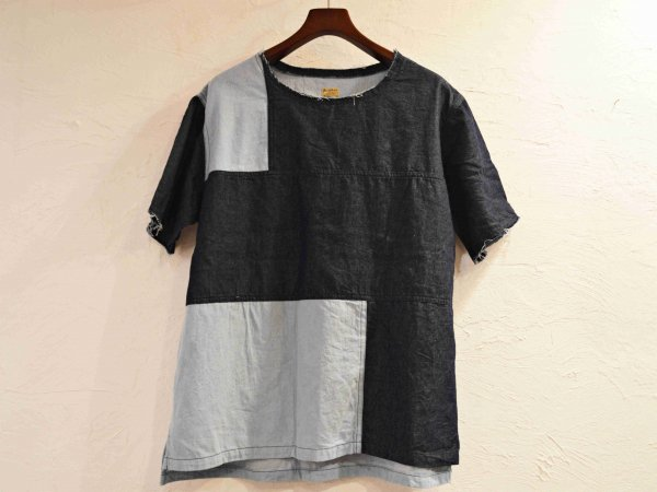 PATCHWORK TEE 【INDIGO】 / SUNDAY WORKS