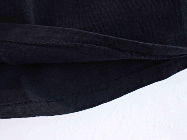 Classic Henley Neck Tee 【BLACK】 / August Roots