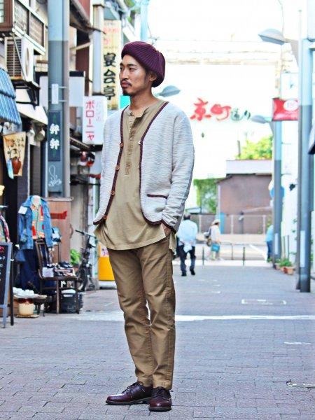 Roots Cardigan 【BEIGE】 / Nasngwam. ナスングワム