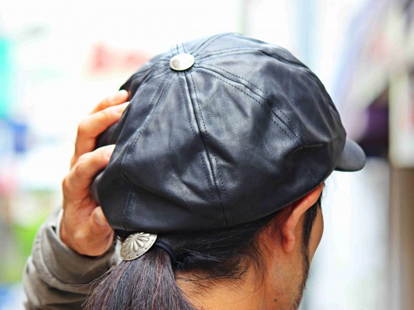 WAITS CAP(LEATHER) 【BLACK】 / Nasngwam. ナスングワム