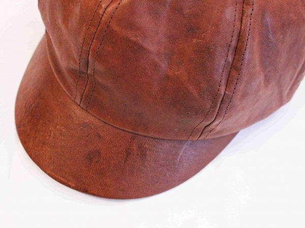 WAITS CAP(LEATHER) 【BROWN】 / Nasngwam. ナスングワム
