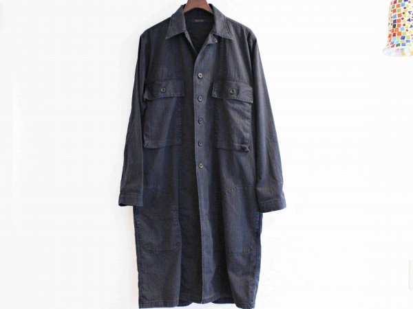 Herringbone ARMY Long Coat 【NAVY】 / modemdesign