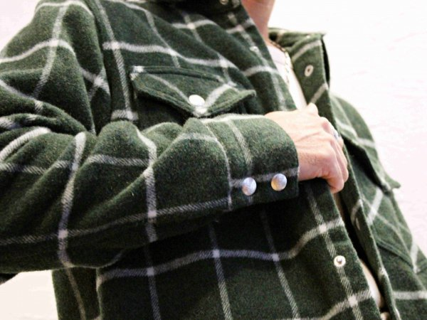 MICHEL � WOOL 【GREEN】 / necessary or unnecessary