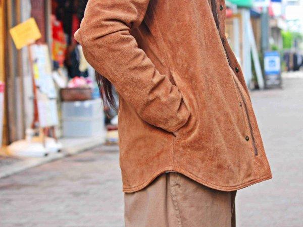 FLIPZIP SUEDE JACKET【BROWN】 / Nasngwam. ナスングワム