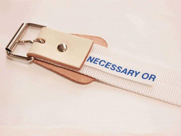 BELT NYLON 【WHITE】 / necessary or unnecessary
