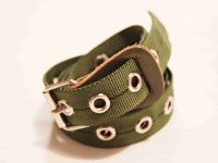 BELT NYLON 【OLIVE】 / necessary or unnecessary