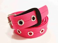 BELT NYLON 【PINK】 / necessary or unnecessary