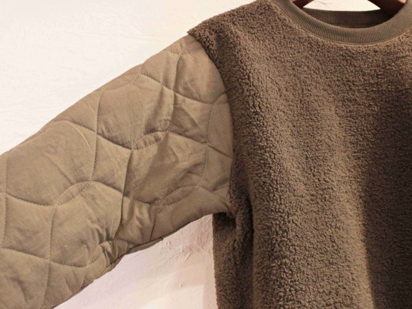 Boa×Quilting Sweat 【OLIVE】 / modemdesign モデムデザイン