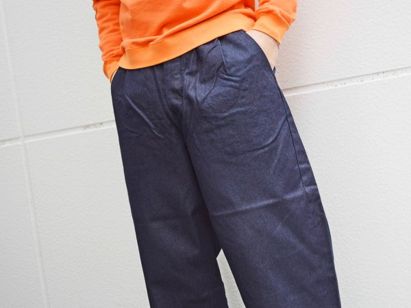 WIDE TUCK TROUSERS 【INDIGO】 / TEXTURE WE MADE