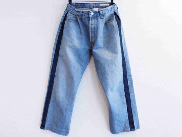 SIDE LINE DENIM PANTS 【BLUE-A】 / SUNNY SIDE UP