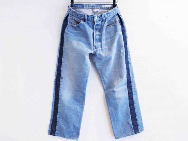 SIDE LINE DENIM PANTS 【BLUE-B】 / SUNNY SIDE UP