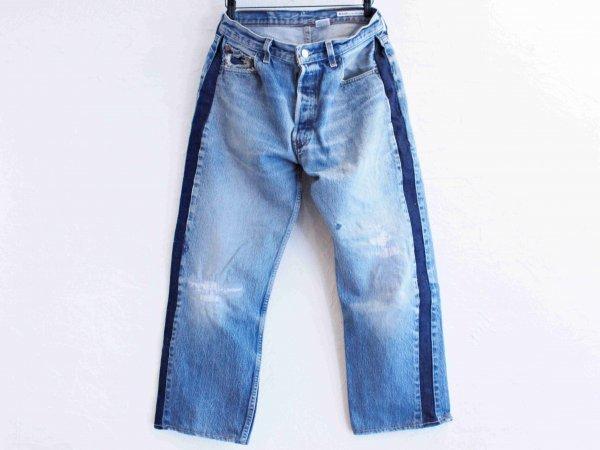 SIDE LINE DENIM PANTS 【BLUE-C】 / SUNNY SIDE UP