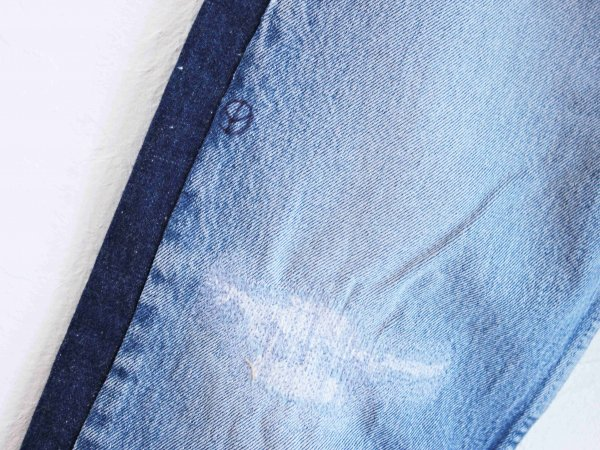 SIDE LINE DENIM PANTS 【BLUE-C】 / SUNNY SIDE UP