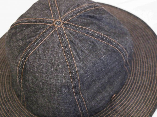 Linen dungaree Metro Hat 【BLACK】 / morno モーノ