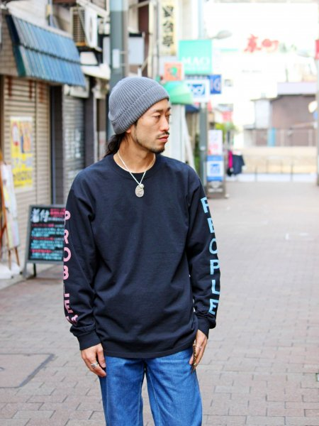 people Long Sleeve Tee 【BLACK】 / FUNG