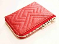 Fenomeno Small Zip Wallet(Diamond) 【Red】 / Tsunai Haiya