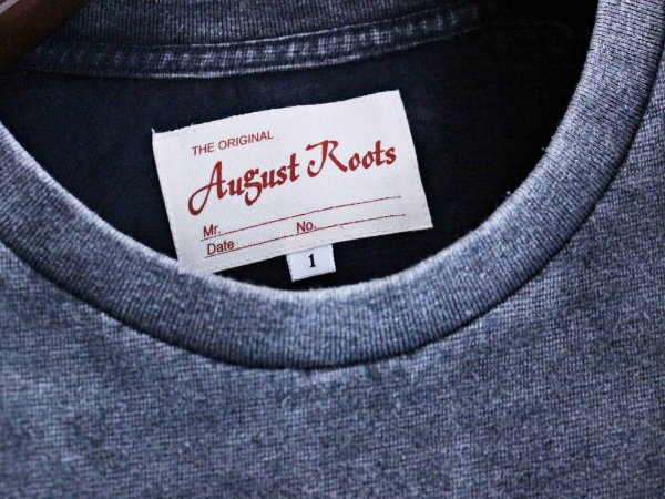 Classic Tee 【CHEMICAL-BLACK】 / August Roots×LEATHER TRAMP