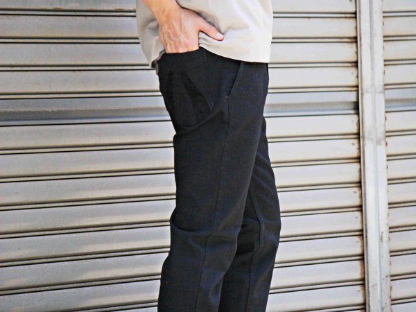 SUNSET PANTS 【BLACK×BLACK】 / NASNGWAM
