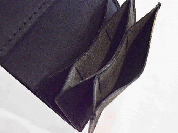 三つ折りサイフ【BLACK】 / saranam