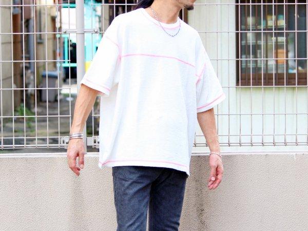STTICH TEE 【WHITE】 / ionoi