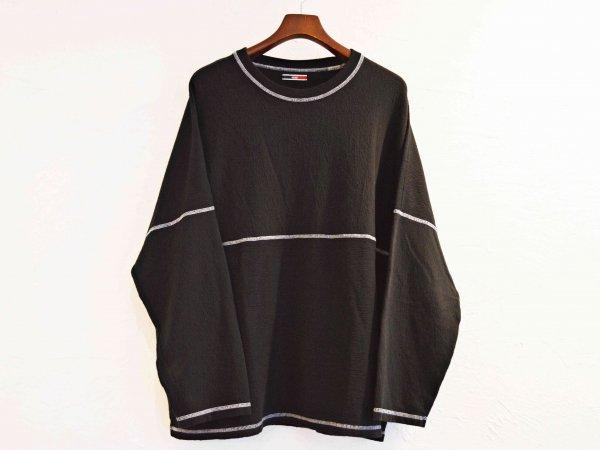 STTICH BEKA L/S TEE 【BLACK】 /  ionoi