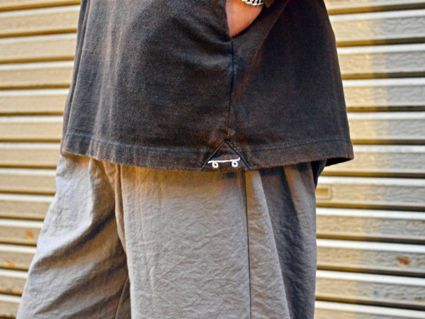 Slip-on L/S TEE 【BLACK×BLUE】 / O.K.