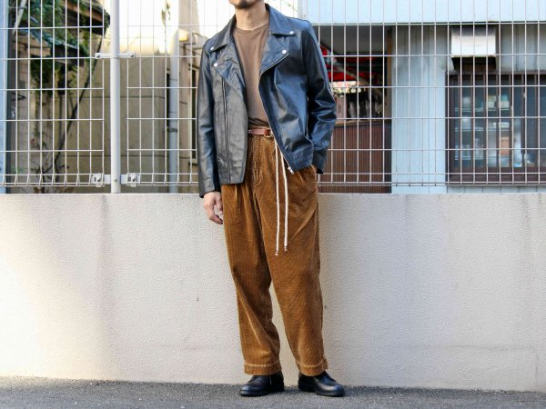 Double Leather JK 【BLACK】 / LEATHER TRAMP