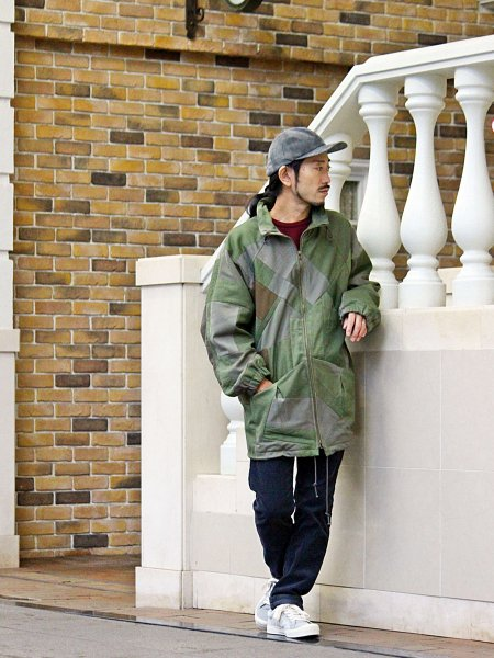 STREAK COAT 【ARMY】 / Nasngwam. ナスングワム