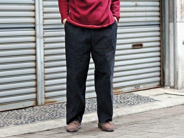 CORDUROY SIDE LINE PANTS 【BLACK】 / modemdesign モデムデザイン