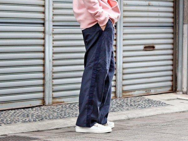 CORDUROY SIDE LINE PANTS 【NAVY】 / modemdesign モデムデザイン