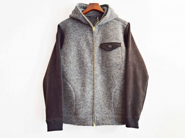 Sliver Knit×Freece PARKA 【GRAY】 / modemdesign