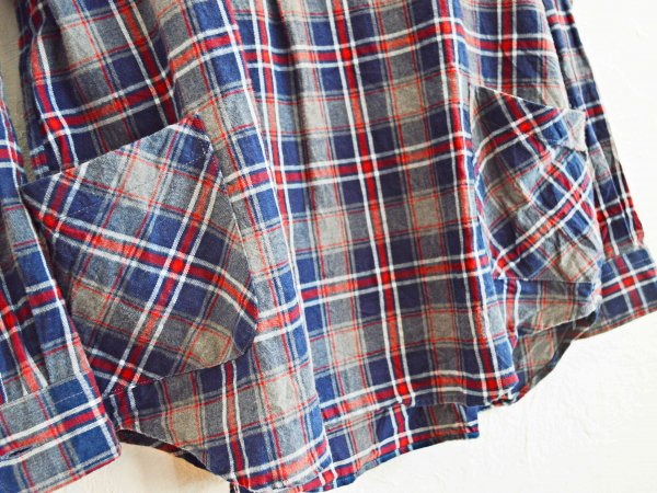Gardening Check Shirts 【NAVY×RED】 / modemdesign モデムデザイン