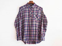 Gardening Check Shirts 【NAVY×RED】 / modemdesign<img class='new_mark_img2' src='//img.shop-pro.jp/img/new/icons1.gif' style='border:none;display:inline;margin:0px;padding:0px;width:auto;' />